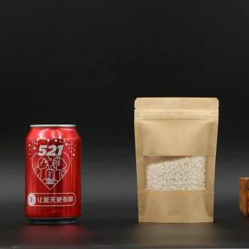 Recyclable Paper Pouch stand Packaging Zipper Coffee Bag