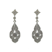 Sterling Silver Dangle Bride Earrings