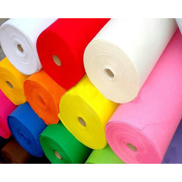 Colorful synthetic  polyester felt fabric