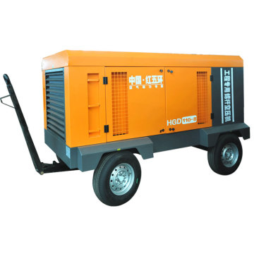 HGD110-8D 110kw portable screw air compressor