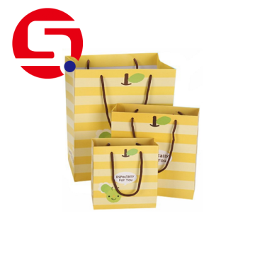 Paper shopping bags with handles wholesale