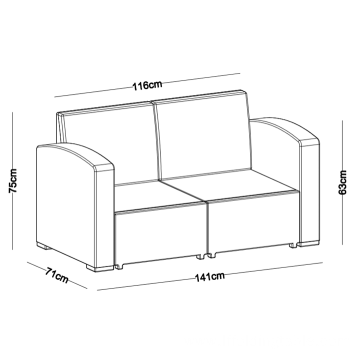 4 Seater PP Outdoor Sofa Set