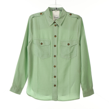 Tencel Garment Dye Ladies Long Shirts