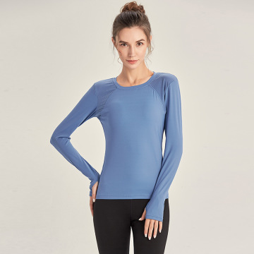 Woman Long Sleeve Yoga top Mesh Womens Gym