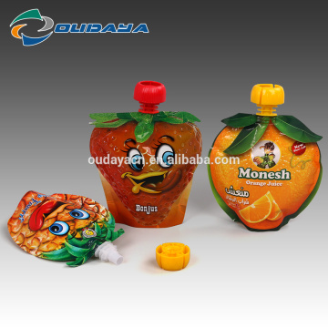 Package Stand Up Orange Shaped Spout Juice Pouch