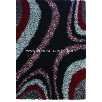 Polyester Viscose Shaggy Carpet with Design