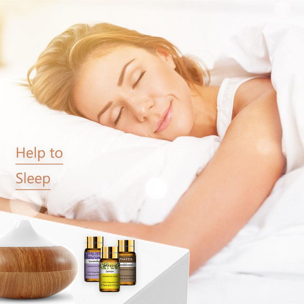 12pcs Kits Pure Natural Essential Oils Gift Set Eucalyptus Lavender Mint Lemon Bergamot Tea Tree Purify Air Diffuser Aroma Oil