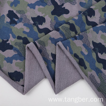Popular camouflage pattern fleece knitting terry fabric