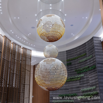 Mall big round shape glass chandelier pendant