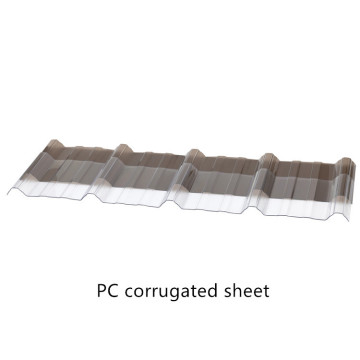 Polycarbonate Corrugated Sheet with Customized