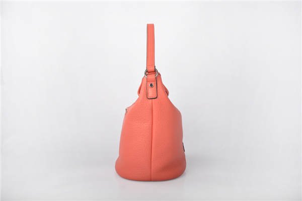 Popular women colorful shoulder leather bucket bag