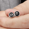 Mini Punk Skull Stud Earrings For Guys