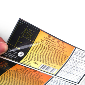 Custom Printed Adhesive Sandwich Packaging Food Labels