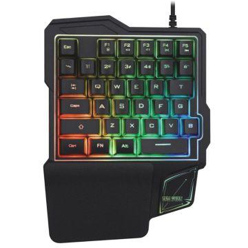 K103 Wired Gaming Keypad with LED Backlight 38 Keys One-Handed Mechanical Feeling Keyboard For PUBG/CSGO/Fortnite