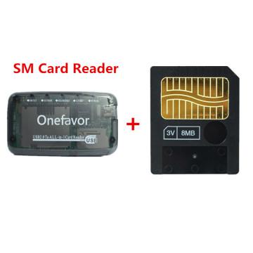 New!!! 8MB Smart media card smartmedia SM memory card 8M+ SM Memory Card Reader