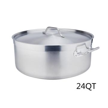 24Quart Stainless Steel Sandwich Bottom Braiser With Lid