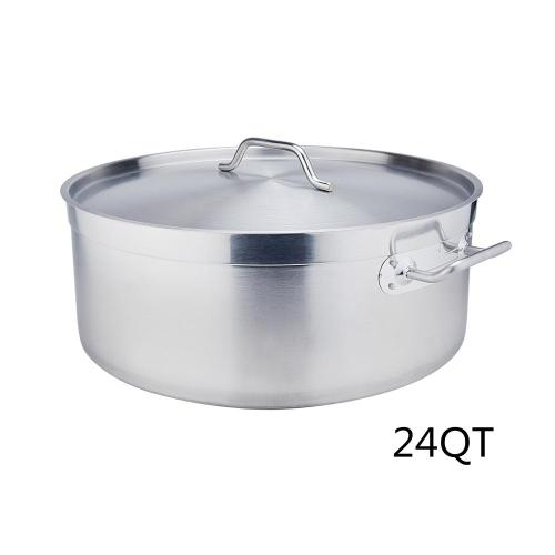 24QT Stainless Steel Sandwich Bottom Braiser With Lid