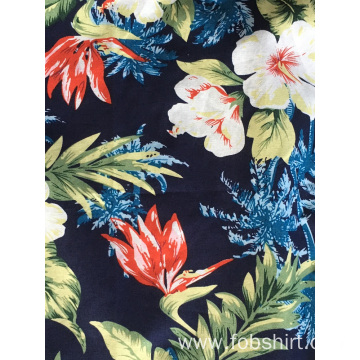 Men Cotton Printing Hawaii Shirt