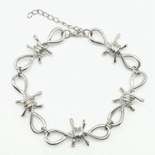 New Wire Brambles Iron Unisex Choker BraceletWomen Hip-hop Gothic Punk Style Barbed Wire Brambles Chain Bracelet Gifts Friends