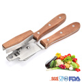 Full stainless steel head wooden handle can opener