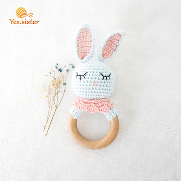 Eco Organic Crochet Baby Toys Rabbit Teether