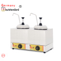 Electric two bottle sauce warmer stainless steel