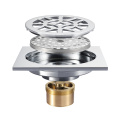HIDEEP Full Copper Chrome Bathroom Floor Drain