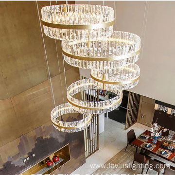 Indoor shopping hotel led chandelier light
