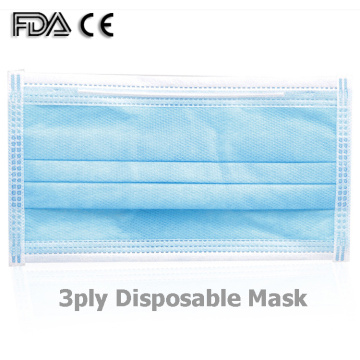 Nonwoven 3ply Disposable Face Mask for Protection