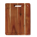 Rectangle wood chopping board with well