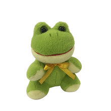 Plush Smiling Frog Green