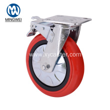 8 Inch Red PVC Caster  Wheel