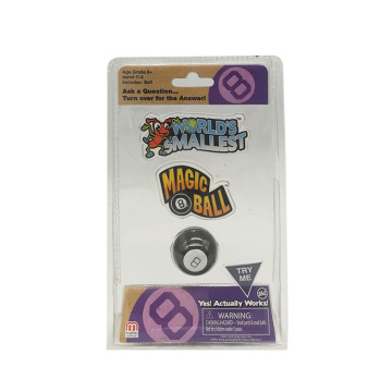 Tri-folded plastic toy blister packaging