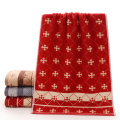 Hot Sale Red Towels Snowflake Patterned for Xmas