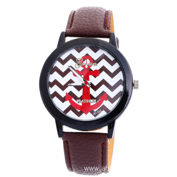 Geneva leather watch quartz colorful watch