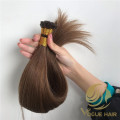 Light brown 100grams flat tip hair