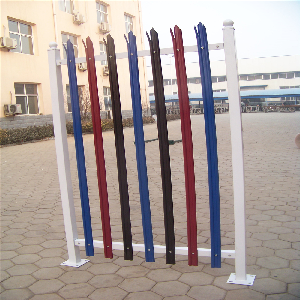 D or W Section Panel Metal Palisade Fence