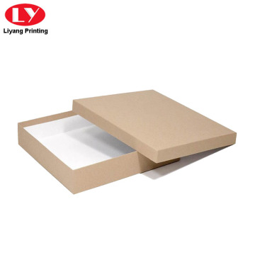 Kraft Paper Box with Lid for Scarf Packaging