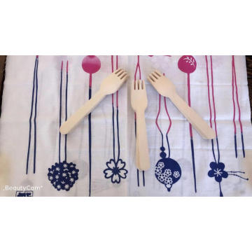Wooden knife spork spoon set