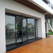 Lingyin Construction Materials Ltd Hot Sale Double Glass Aluminum Folding Doors