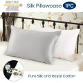 Silk 2Pillowcase Matching Colors Hidden Zipper Closure