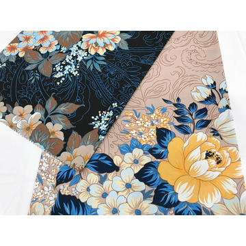 Flower Style Cotton Stretch Printed Fabric