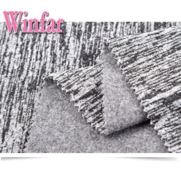 Two Tone Polyester Spandex Hacci Knit Fabric Stock