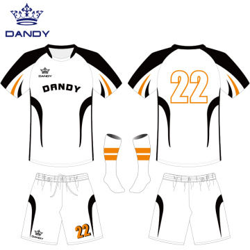 Custom white sublimation soccer jerseys