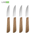 4pcs Wood Handle Steak Knife