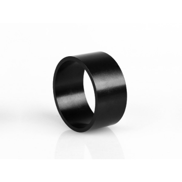 Thin wall ring black magnet