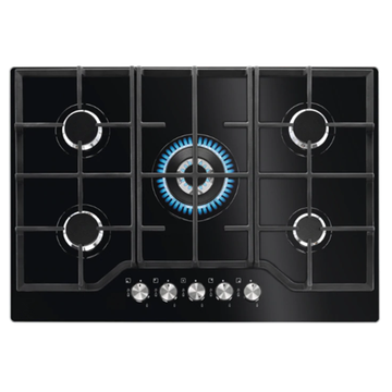 75cm Tempered Glass Gas Hobs Smeg Kitchens
