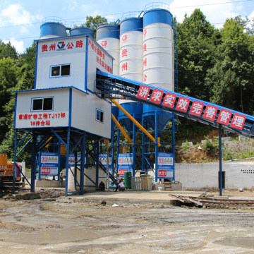 Long service 60m3 stationary concrete batching plant