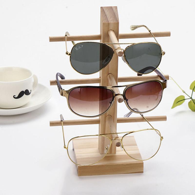 Fashion Multi Layers Wood Sunglass Display Racks Shelf Eyeglasses Show Stand Jewelry Holder for Multi Pairs Glasses Showcase