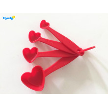 Plastic Heart 4PCS Set of Measuring Spoon